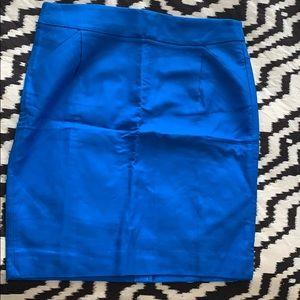 J Crew Blue Pencil Skirt sz 14